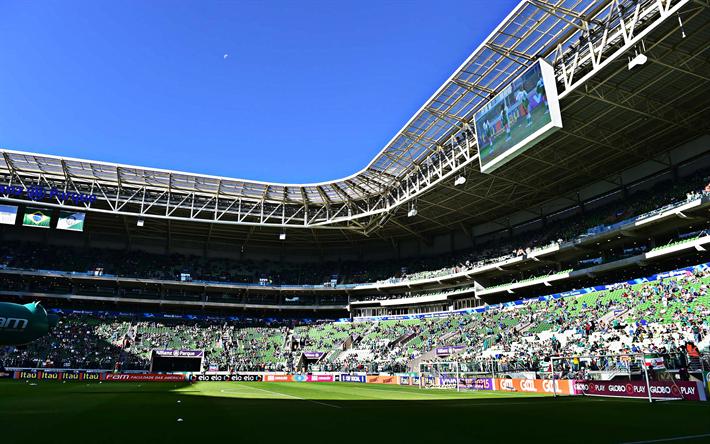 Herunterladen Hintergrundbild Palmeiras Stadion Tribunen