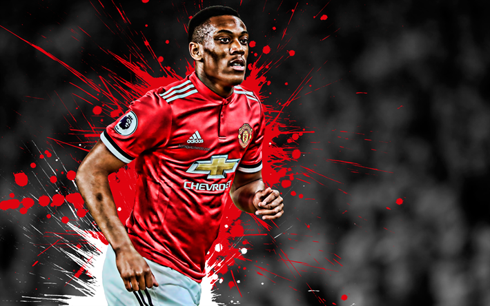 Download Wallpapers Anthony Martial, 4k, French Football
