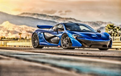 McLaren P1, HDR, 2018 cars, raceway, tuning, supercars, english cars, McLaren