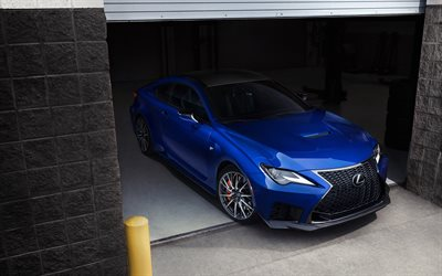 2020, Lexus RC F, blue sports coupe, new blue RC F, japanese sports cars, exterior, Lexus