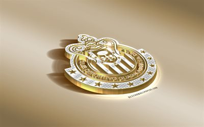 CD Guadalajara, Mexican football club, golden silver logo, Guadalajara, Mexico, Liga MX, 3d golden emblem, creative 3d art, football, Guadalajara Chivas