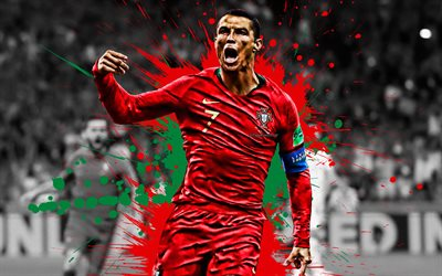 Cristiano Ronaldo, CR7, Portugal national football team, world football star, goal, Portuguese football player, football, Portugal colors, Ronaldo