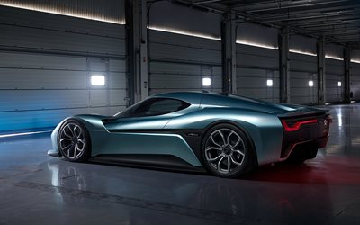 Nio EP9, 4k, rear view, luxury hypercar, exterior, sports coupe, Nio