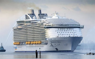 Harmony of the Seas, cruise liner, luxury ship, seaport, passenger liner, Caribbean Sea