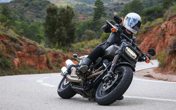 Scarica Sfondi Harley Davidson Fat Bob 114 Superbike 2018 Bici