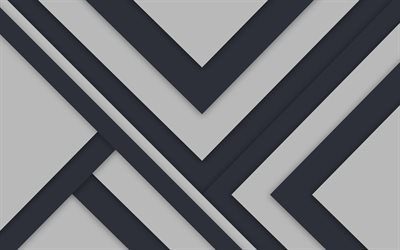 gray background, lines, strips, material design, geometry, abstract material, art