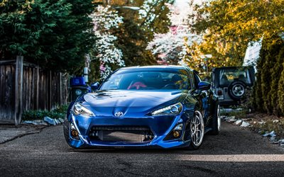 Toyota GT86, 2017, Japanese sports car, sports coupe, blue GT86, tuning, new Japanese cars, Toyota