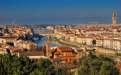 Florence, beautiful Italian city, morning, sunrise, Tuscany, Italy