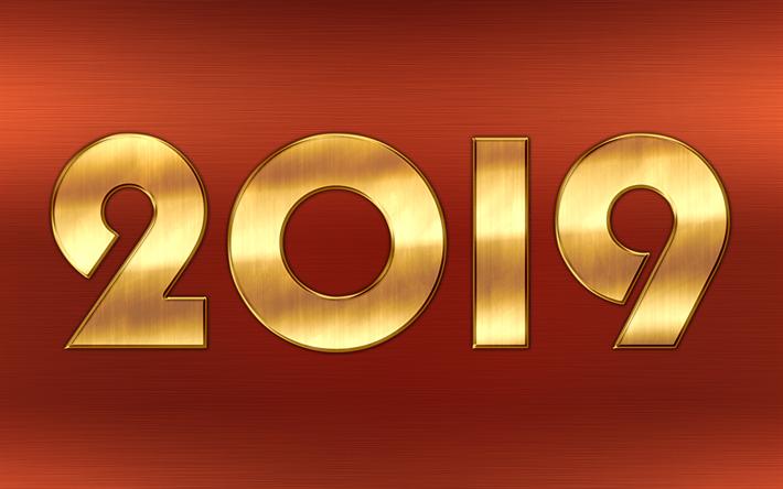 Descargar Fondos De Pantalla 4k, Feliz Nuevo Año 2019, El
