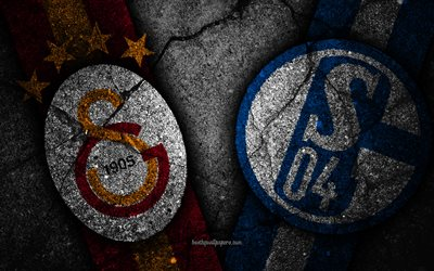 Galatasaray vs Schalke 04, Champions League, Group Stage, Round 3, creative, Galatasaray FC, Schalke 04 FC, black stone