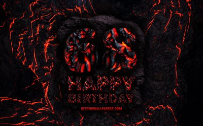 4k, Happy 68 Years Birthday, fire lava letters, Happy 68th birthday, grunge background, 68th Birthday Party, Grunge Happy 68th birthday, Birthday concept, Birthday Party, 68th Birthday
