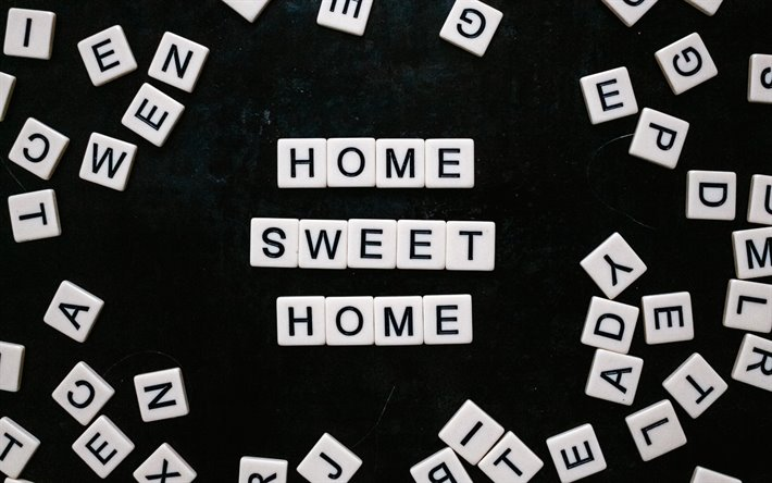 home sweet home lettering quotes about home