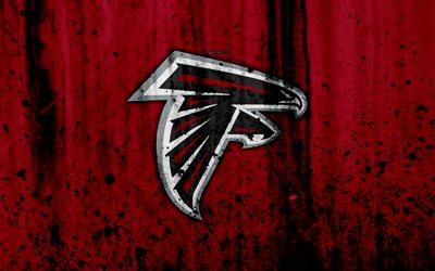 Download wallpapers 4k Atlanta Falcons grunge NFL