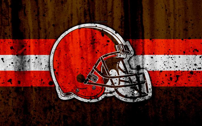 Download wallpapers Cleveland Browns, 4k, NFL, grunge ...