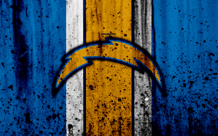 Download Wallpapers Los Angeles Chargers 4k Nfl Grunge