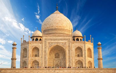 Taj Mahal, indian landmarks, mausoleum, Agra, India, Asia