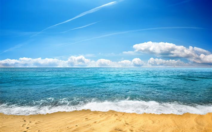 Scarica sfondi paesaggio di mare onde spiaggia sabbia for Foto per desktop mare