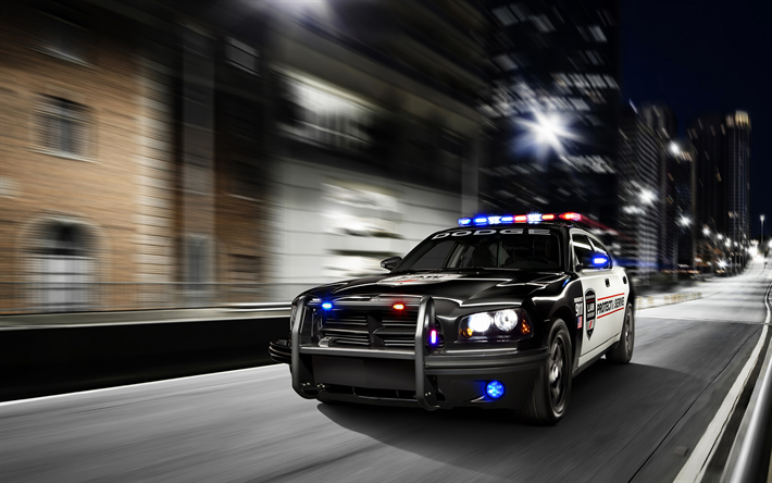 Download wallpapers Dodge Charger, 4k, police cars, 2017 ...