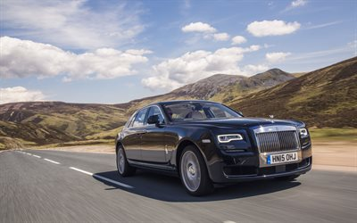 Rolls-Royce Ghost, 4k, 2018 cars, road, luxury cars, Rolls-Royce