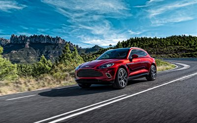 2021, Aston Martin DBX, front view, exterior, red new DBX, sport SUV, luxury suv, British cars, Aston Martin