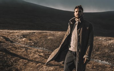 Mariano Di Vaio, italian actor, photoshoot, italian fashion designer, brown mens coat, italian celebrities