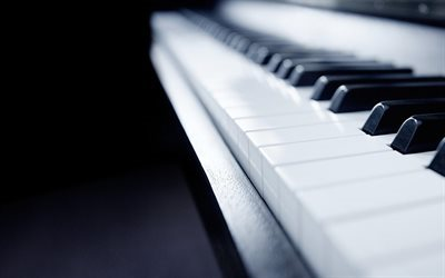 piano, keys, bokeh, piano playing