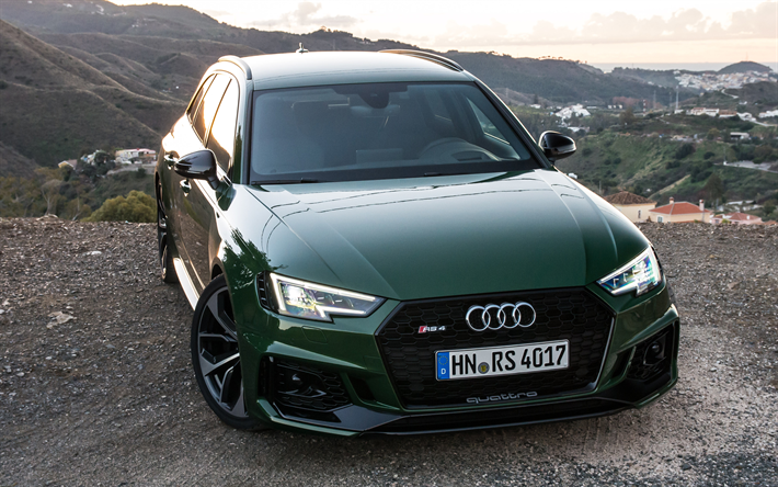 Download Wallpapers Audi Rs4 Avant 4k 2017 Cars Offroad New Rs4