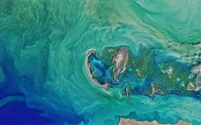 Caspian Sea, view from space, Earth, Sea, NASA