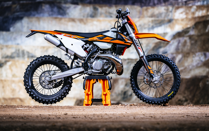 Download Wallpapers Ktm Exc Tpi 4k Motocross 2018 Bikes