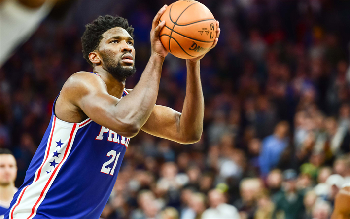 Download Wallpapers 4k Joel Embiid Nba Basketball Players