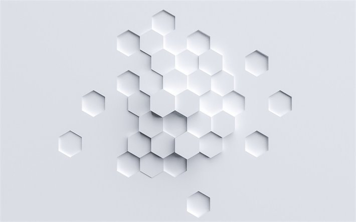 Download Wallpapers White 3d Polygons Background Geometric Abstraction White Background 3d Honeycomb White Honeycomb Background For Desktop Free Pictures For Desktop Free
