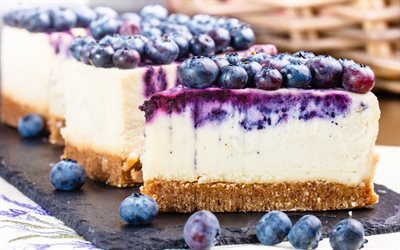 cheesecake, cake, blueberry, berries, dessert