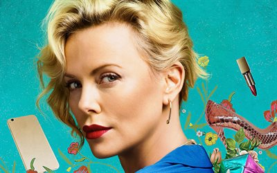 Gringo, 2018, Charlize Theron, 4k, poster, comedy thriller, new movies