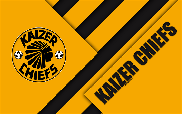 Download Wallpapers Kaizer Chiefs Fc 4k South African Football Club Logo Orange Black Abstraction Material Design Johannesburg South Africa Premier Soccer League Football For Desktop Free Pictures For Desktop Free