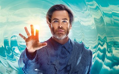 Dr Alex Murry, 4k, A Wrinkle in Time, 2018 movie, Chris Pine