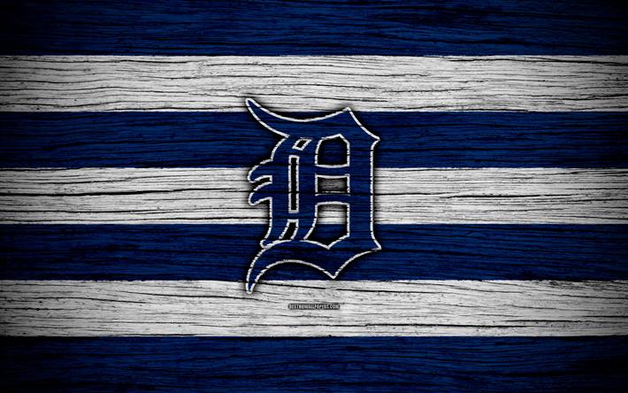 Download Wallpapers Detroit Tigers 4k Mlb Baseball Usa Major League Baseball Wooden Texture Art Baseball Club For Desktop Free Pictures For Desktop Free