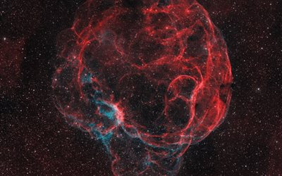 Simeis 147, Spaghetti Nebula, supernova remnant, Milky Way, space, Crimean Astrophysical Observatory