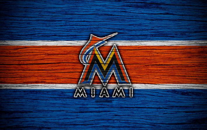 Miami Marlins 4k MLB Baseball USA Major League Wooden