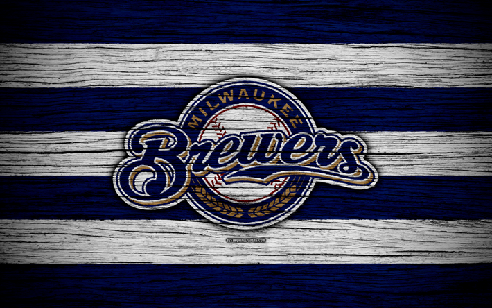 Download wallpapers milwaukee brewers 4k mlb baseball - Milwaukee brewers wallpaper ...