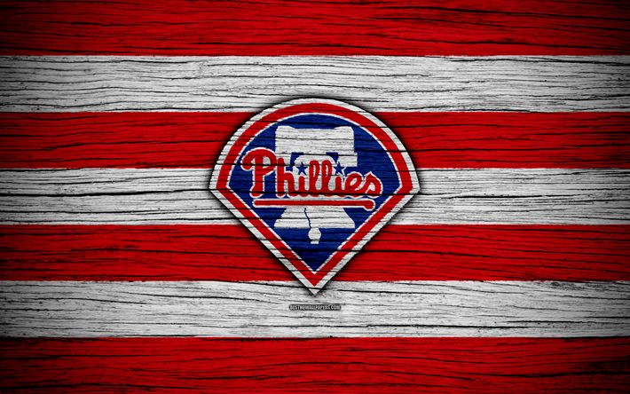 Philadelphia Phillies 4k MLB Baseball USA Major League Wooden