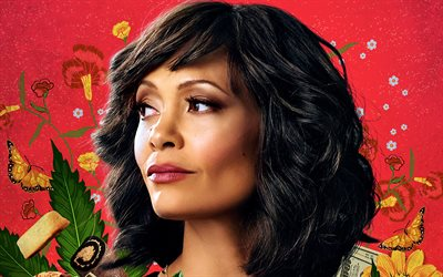 Gringo, 2018, Thandie Newton, English actress, portrait, new film, promo materials