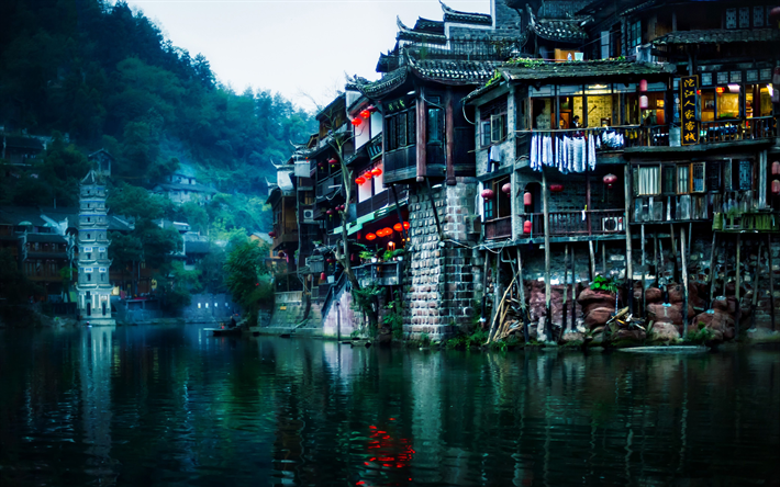 Fenghuang 4k Foggy Weather River China Asia
