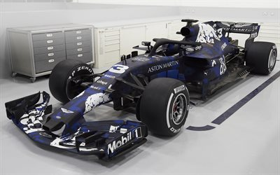 Red Bull RB14, 2018, Formula 1, new cockpit protection, F1, garage, racing car, front view, RB14, Red Bull Racing