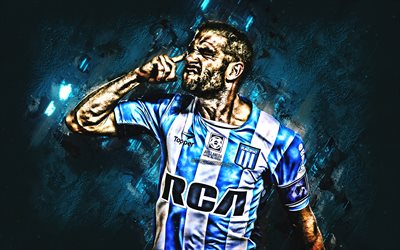 Lisandro Lopez, le Racing Club de, footballeur Argentin, attaquant, de l'objectif, portrait, art, le football, l'Argentine, le Racing Club de Avellaneda