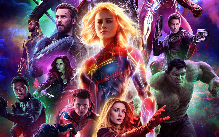 Download Wallpapers 4k Avengers Endgame Characters 2019 Movie