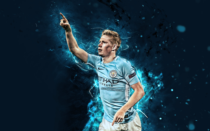 Download Wallpapers 4k, Kevin De Bruyne, Goal, Manchester