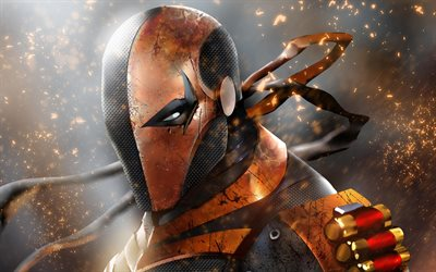 Deathstroke, artwork, Slade Joseph Wilson, supervillain, DC Comics