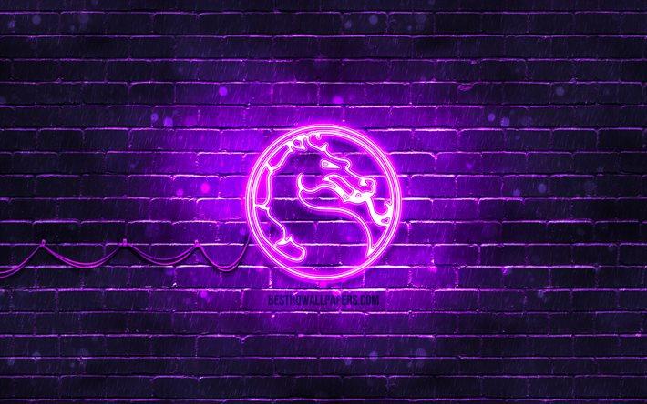 Download Wallpapers Mortal Kombat Violet Logo 4k Violet