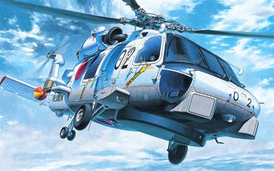 Sikorsky SH-60 Seahawk, military helicopters, American Army, US Marine Corps, anti-submarine helicopters, Army of USA, US Navy