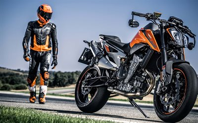 KTM 790 Duke, 2020, front view, exterior, new orange-black 790 Duke, Austrian motorcycles, KTM
